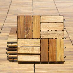 აკაციის ტერასის ასაწყობი იატაკი (თერმულად ზეთით) 2,4X30X30  (12) – 1 ცალი
