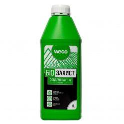 Weco – ხის ანტისეპტიკი კონცეტრატი (1:6) მწვანე, ხის ჭიის საწინააღმდეგო -1 ლიტრი