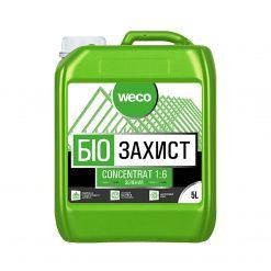 Weco – ხის ანტისეპტიკი კონცეტრატი (1:6) მწვანე, ხის ჭიის საწინააღმდეგო – 5 ლიტრი