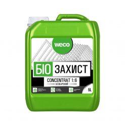 Weco – ხის ანტისეპტიკი კონცეტრატი (1:6) უფერო, ხის ჭიის საწინააღმდეგო -5 ლიტრი