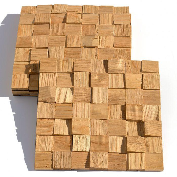 მუხის ხის დეკორატიული 3D პანელი